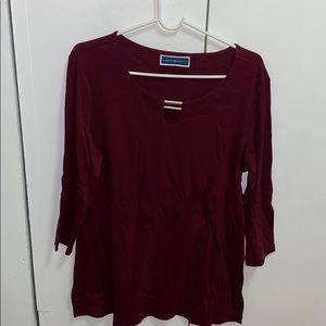 Karen Scott women's knit top sz large